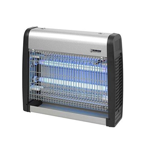 Eurom Insektenvernichter Insektenlampe mit UV-Lampe 19W 2x 8W und 100m² Reichweite