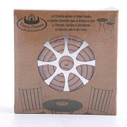 2 x 10 Wirksame Citronella Mücken Rauchspiralen  Halter