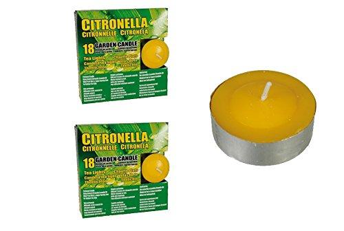 36 Citronella Teelichter Anti Mücken Kerzen Outdoor Kerzen Duftkerzen Garten