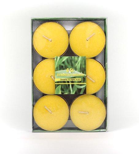 Citronella Duftlichter Jumbo Ø ca 58 cm Zitrone Teelichter Outdoor Brenndauer Ca 3h Anti Mücken Kerzen