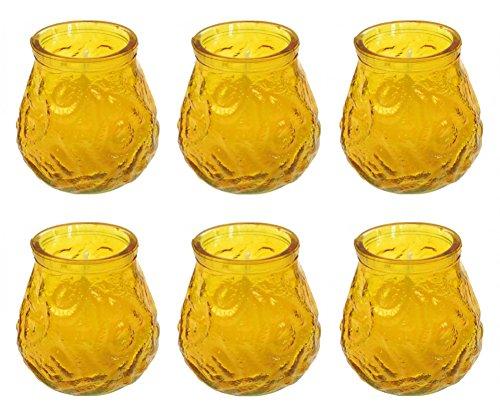 Citronella Kerzen im Glas Windlichtglas Gartenparty Anti Mücken Kerzen 6 Stück