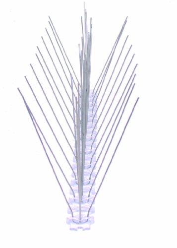 50 cm 3 reihig Edelstahl Taubenabwehr Vogelabwehr Taubenspikes Polycarbonat Profiqualität jetzt mit A Zertifizierung von MD