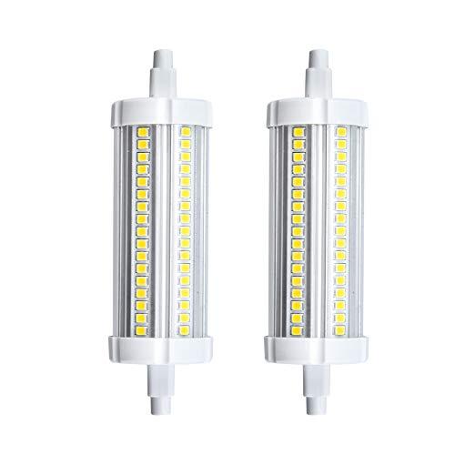 Bonlux R7s Led Lampe Leuchtmittel 15W 118MM 220V Warmweiß 3000K  360°Abstahlwinkel wie 150W HalogenTube Licht für WandlampeWandleuchte Flutlicht 2-Stück Nicht Dimmbar