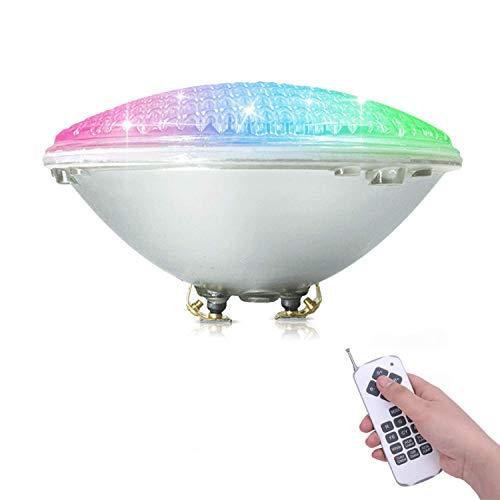 COOLWEST RGBW Schwimmbadleuchten PAR56 36W LED Poolbeleuchtung Einhänge Unterwasser Ersatz 250W Halogen Scheinwerfer DCAC 12V