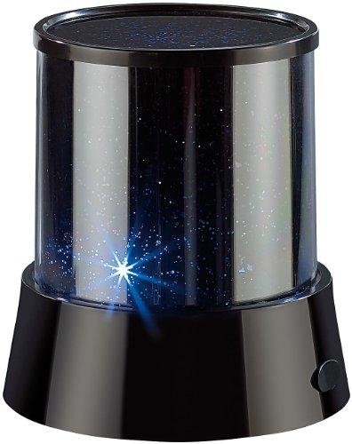 Lunartec Sternenhimmel Projektor Mobiler Mini-Sterne-Projektor mit 3 Leuchtprogrammen Sternenprojektor LED