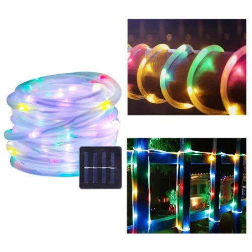 AUFUN Solar Lichterkette 100 LED Solar Lichterkette Weihnachten Lichterketten Garten Außen12m RGB Solar Beleuchtung Kugel für Party Weihnachten Outdoor Fest Deko usw Tube RGB