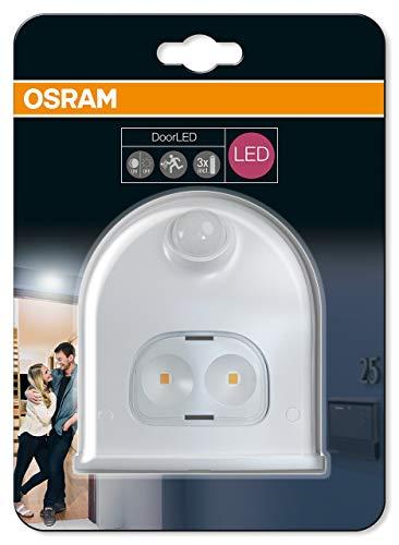 Osram Door LED Down Batteriebetriebene Leuchte für Außenanwendungen Bewegungssensor Tag-Nacht-Sensor Kaltweiß 102 5 mm x 92 4 mm x 36 5 mm