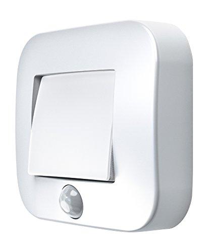 Osram LED Nightlux Hall Batteriebetriebene Leuchte für innenanwendungen Bewegungssensor Tag-Nacht-Sensor Kaltweiß 84 0 mm x 73 0 mm x 22 0 mm