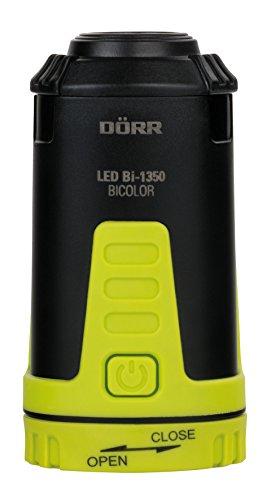 Dörr 980546 LED Outdoor Laterne Bicolor Bi-1350 Ultrahelle weiße CREE Plus 2 rote LEDs 115 Lumen dimmbar schwarzNeongelb