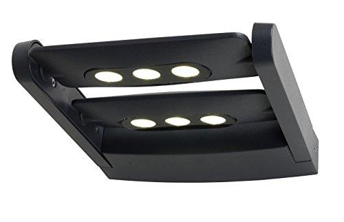 ECO-LIGHT Wandleuchte  Außenleuchte LEDSPOT in anthrazit mit 2x 3x3 Watt CREE LED
