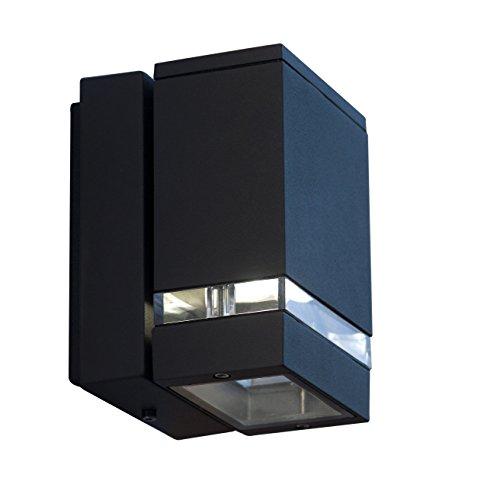LED WandleuchteAußenleuchte anthrazit 1-flammig mit 3x1W kaltweißer CREE LED