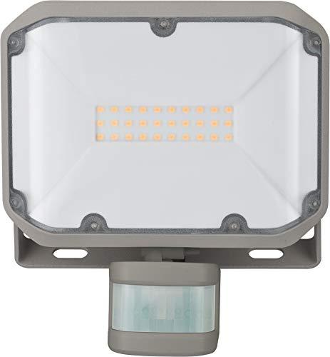 Brennenstuhl LED Strahler ALCINDA 2000 PLED-Strahler für außen mit Bewegungsmelder LED-Außenstrahler zur Wandmontage LED-Fluter 20W mit OSRAM SMD LEDs IP44 silber