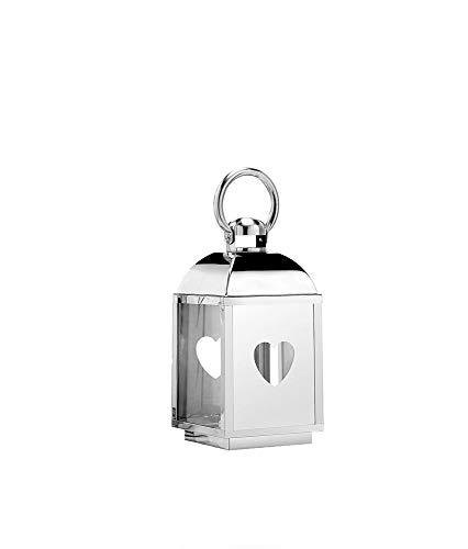 Aquaristikwelt24 Edelstahl Design Laterne CCD-9626 Größe S Glas Metall Windlicht Gartenlaterne
