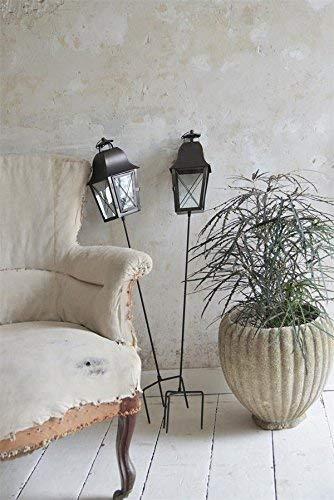 Jeanne dArc Living Vintage Laterne Metall Gartenlaterne mit Spieß JDL