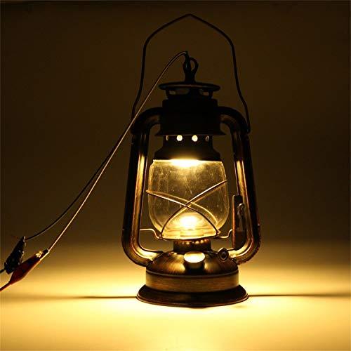 Antike E27 Vintage Laterne an der Wand befestigte Lampen-Leuchter-Energieeinsparung für Stab-Korridor im Freien Garten-Hinterhof-Lampe Farbe Rotes Kupfer