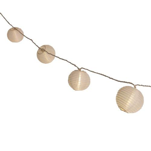 Plaights Lampion Lichterkette mit 20 LED's in warmweiß  Sommerlichterkette für draußen  perfekte Dekoration für Garten Terrasse Balkon Party und Feiern