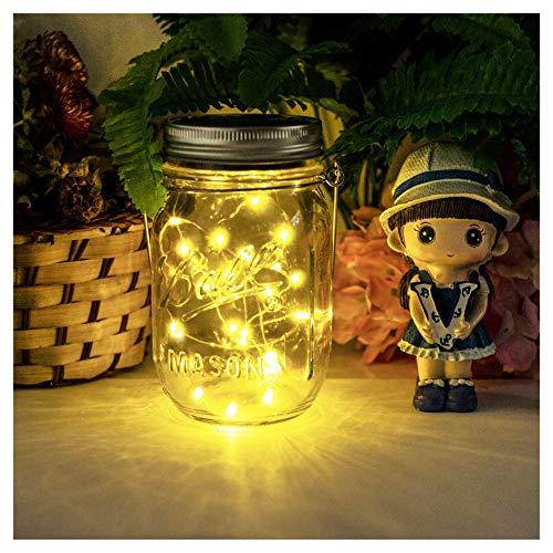 Solarlampen fur Garten - NEWYANG Wetterfest Solar Einmachglas Aussen Lampions Lichterkette im GlasGartendeko Solarleuchten für WeihnachtenAußen Laterne Hof Hochzeit PartyWand Tisch Baum(Warm)