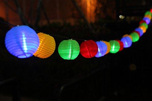 Uping Solar Lichterkette 20er led Lampion Laterne für Party Garten Weihnachten Halloween Hochzeit Beleuchtung Deko in Innen und Außenbereich usw Wasserdicht 45M mehrfarbig
