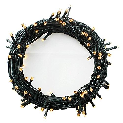 100-1000 LEDs 4 Farben Wählen LED Lichterkette Weihnachten Kette Leuchte auf Dunkelgrün Kabel 1000 LEDs Warmweiß