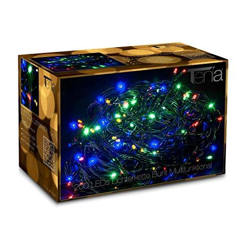 200 LED Lichterkette Bunt Multifunktional inkl Memory Funktion 20M InnenAußen Weihnachten