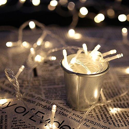HG 10M 100 LED Lichterkette Warmweiß 31V Außenlichterkette Weihnachtslichterkette 8 Modi Wasserdicht Weihnachten Halloween Party Hochzeit Festlich Tannenbaum innen Garten Fenster Pavillon Fassaden