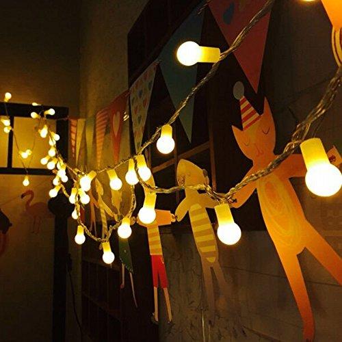 Uping led Lichterkette 100 Globe Bälle AC EU-Stecker mit DC 31V Niederspannungstransformator und 8 Programm für Party Garten Weihnachten Halloween Hochzeit Beleuchtung Deko in Innen und Außenbereich usw Wasserdicht 12M warm weiß