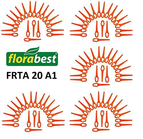 100 Ersatzmesser für Ihren Florabest LIDL AKKU RASENTRIMMER FRTA 20 A1 Lidl IAN 282232