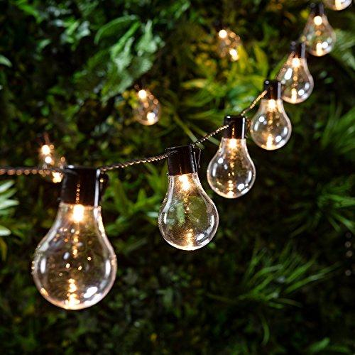 20er LED Party Lichterkette warmweiß Strom Innen- und Außen Lights4fun