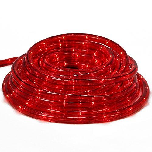 com-four LED Lichtschlauch mit rotem Licht für Innen- und Außenbereich Flexible Lichterkette als ganzjährige oder saisonale Deko-Beleuchtung 9 m 09 Meter rot - 01 Stück
