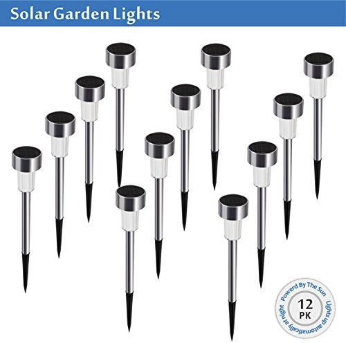 SunSmart 12 Pack LED Solarleuchten Outdoor solar gartenleuchten mit erdspieß - Sun Powered Yard Lichter Für Garten Bodenpfad Gehweg Auffahrt