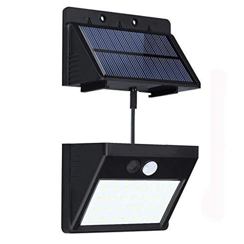 Solarleuchten 28 LED für Aussen bewegungsmelder SuperhelleTrennbarer Solar Panel 3 Modi Solarlampen für IndoorOutdoor Wasserdichte Solar Leuchte für außenLager PatioDeck BalkonHof Außenwand
