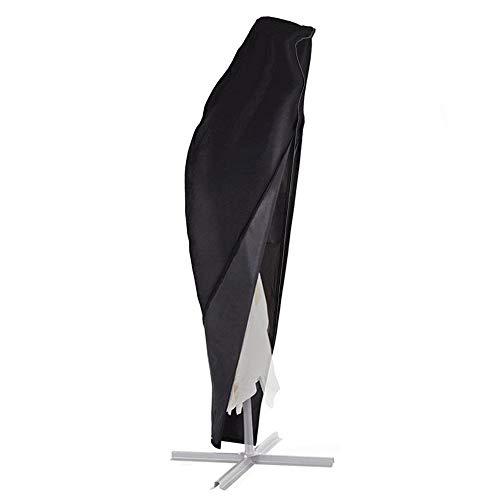 BougeRV Sonnenschirm Schutzhülle Wasserdicht Sonnenschirm Hülle Cantilever Sonnenschirmhülle Ampelschirm mit UV-Schutz und Reißverschluss für Garten Outdoor 265cm