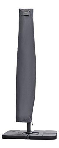 Sekey Schutzhülle für AmpelschirmAbdeckhauben für Sonnenschirm,grau