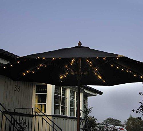 72 LED Solar Sonnenschirm Lichterkette 8x 12m Sonnenschirmbeleuchtung