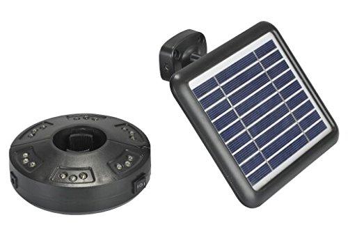 Lampe für Sonnenschirm mit LED solarbetrieben mit separatem Photovoltaik