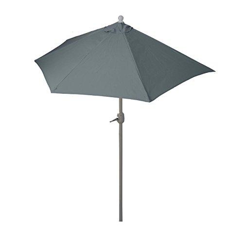Mendler Sonnenschirm halbrund Parla Halbschirm Balkonschirm UV 50 PolyesterAlu 3kg ~ 300cm anthrazit ohne Ständer