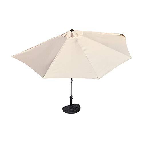 Sonnenschirm halbrund rechteckig für Balkone oder Terrassen PolyesterMetall ca 270 cm breit beige