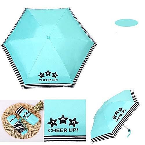 Z-Y -Anti - Uv - Sonnenschirm Halben Tasche Schirm Gestreiften Null Schatten Uv - Bivalente SchirmGrüne