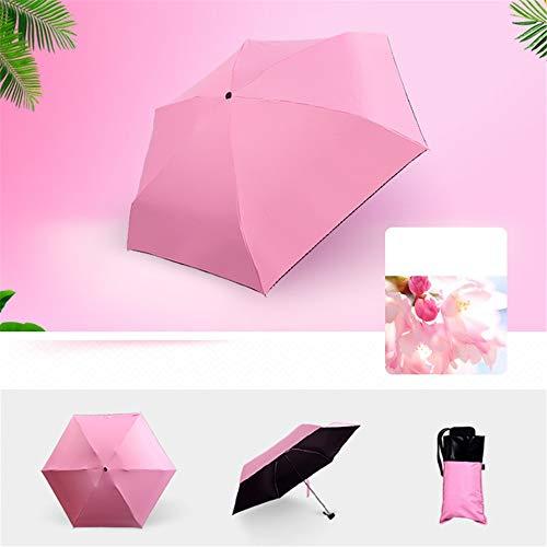 ZXF SD Schirm Sonnenschirm - Schirm Sonnencreme Kapsel Schirm Uv - Anti - Uv - Sonnenschirm Lady Frische Reine Farbe Den HalbenPink
