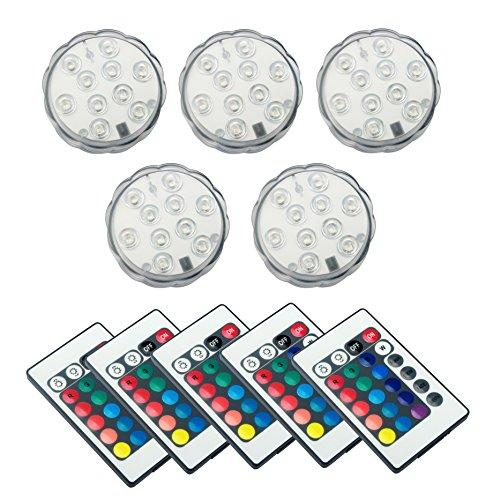 ALED LIGHT Multicolor RGB 10 LEDS unterwasser Wasserdicht Lampe Leuchte Deko Lichter Schwimmlichter Beleuchtung f Water GardenAquarium Badewanne Pool und Spa etc 5pcs