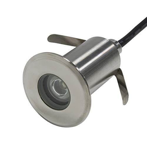 KÖNIG LED Boden-Einbaustrahler PRO 12V 52x795mm IP68 Schutz für Außenbeleuchtung Unterwasser-Leuchten Terrassen Holz Stein Gehwege Warmweiß - 3W