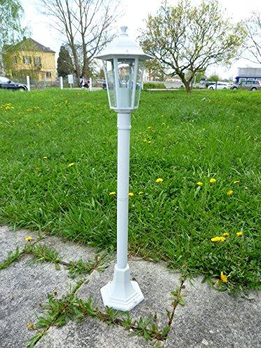 Aluminium Stehleuchte Kingston weiß für den Außenbereich Wegeleuchte Gartenbeluchtung