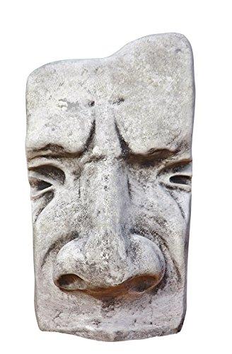 Steinfigur Osterinsel Maske groß Skulptur aus Steinguss