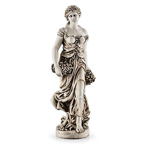 Blumfeldt Ceres • Skulptur • Statue • Gartenfigur • griechische Göttin • 12m Höhe • witterungs- und frostbeständig • für langjährige Aufstellung im Freien • Unikat • Naturstein-Optik • grau