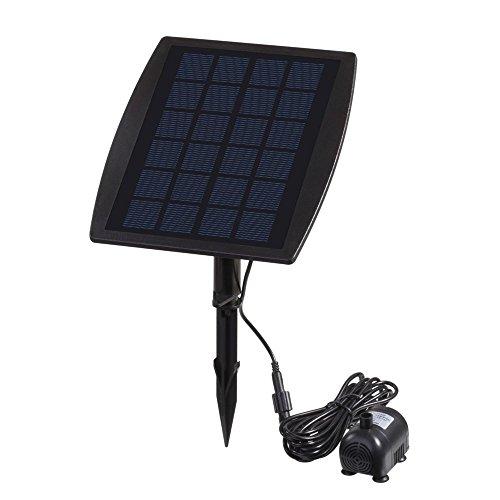 Decdeal Bürstenlose Solar Teichpumpe Solar-Brunnen Wasserpumpe mit Solarpanel 9V 25W