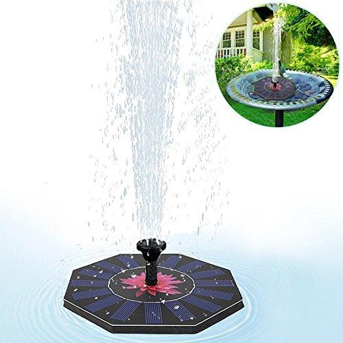 Solar Springbrunnen Tomwell Solar Teichpumpe mit 14W Monokristalline Solar Panel Solarpumpe Solar Schwimmender Brunnen für Garten Fisch-Behälter Vogel-Bad