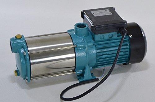 Edelstahl Kreiselpumpe Gartenpumpe MHI1300 INOX 1300W230V Förderleistung 6000 lh robuste und rostfreie Edelstahlwelle  integrierter thermischer Motorschutzschalter  Rückschlagventil