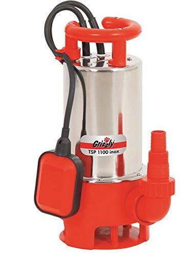 Grizzly Schmutzwassertauchpumpe TSP 1100 Watt Inox 20000lh Schmutzwasserumpe Tauchpumpe