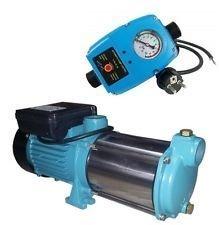 INOXEdelstahl Profi Gartenpumpe Kreiselpumpe 2200 Watt 230V  50Hz Fördermenge 160 lmin 9600 lh - 5 Laufräder 58 bar - robuste und rostfreie Edelstahlwelle  integrierter thermischer Motorschutzschalter