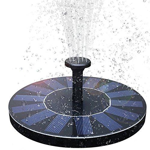 Baonuor Solar Springbrunnen Solar Teichpumpe mit 6 Effekte Solar Wasserpumpe Solar schwimmender Fontäne Pumpe für Gartenteich Oder Springbrunnen Vogel-Bad Fisch-Behälter